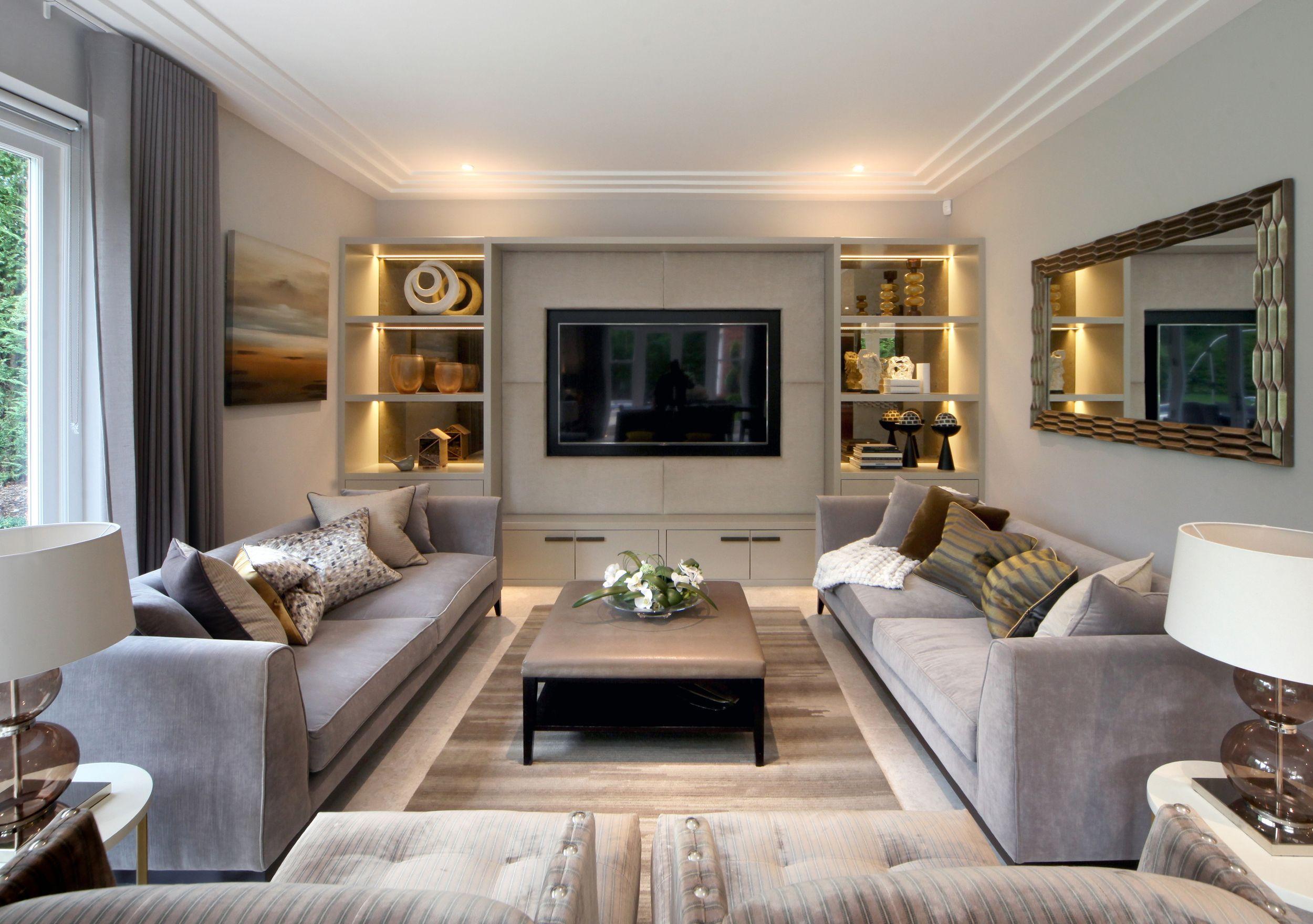 Hush Design Luxury Interior Designers Surrey London Luxury Interior Elegant Living Room Decor Tv Room Design Pictures about livingroom hush