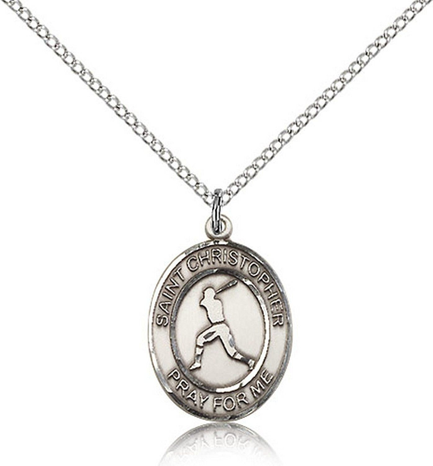 walmart accent chain diamond com tone pendant baseball silver ip