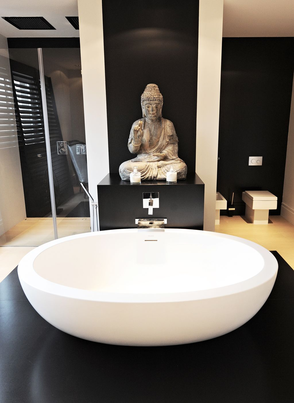 Aleksandra Miecznicka Black White Buddha Decor Home Elegant Interior Design