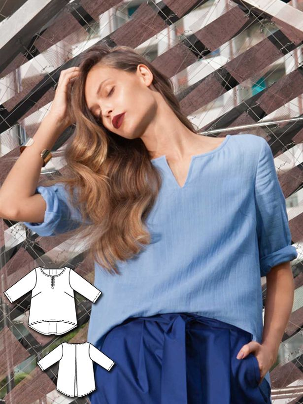Blue Crush: 11 New Women\'s Sewing Patterns | Oberteile ...