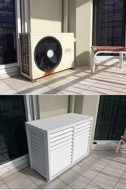 Source Wood Plastic Composite Outdoor Air conditioner