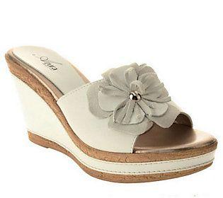 Azura By Spring Step Leather Slide Sandals - Narcisse