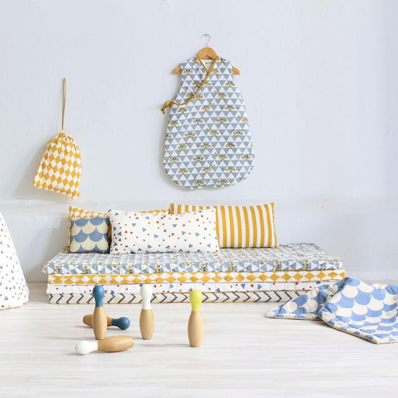 Nobodinoz a créé une collection de matelas très fins spécialement pour les enfants chambre enfantdécoration