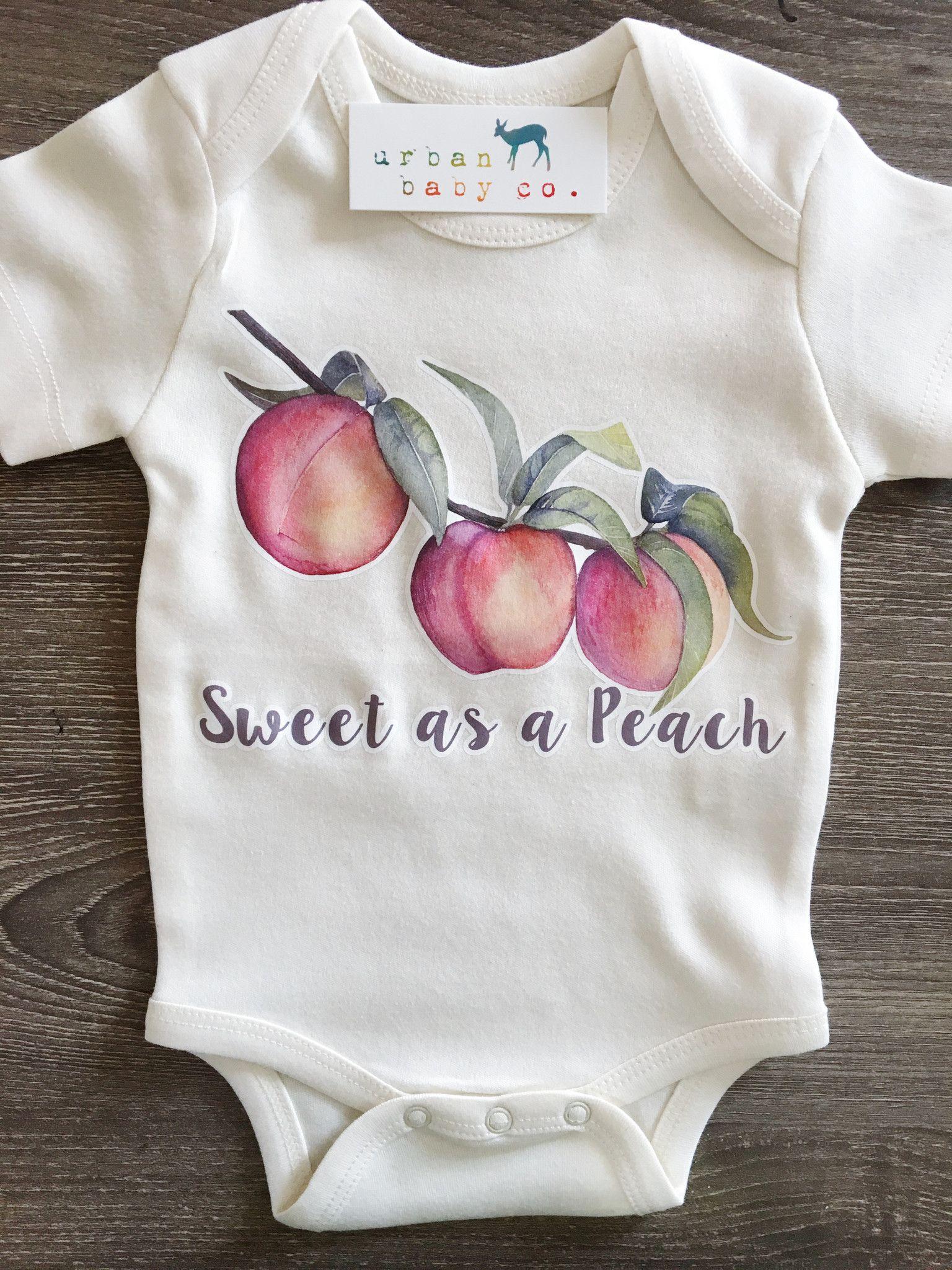 Sweet as a Peach Baby Boy Girl Uni Gender Neutral Infant