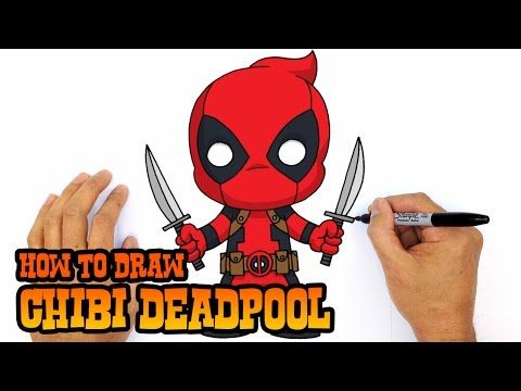 how to draw deadpool chibi step by step drawing lesson youtube