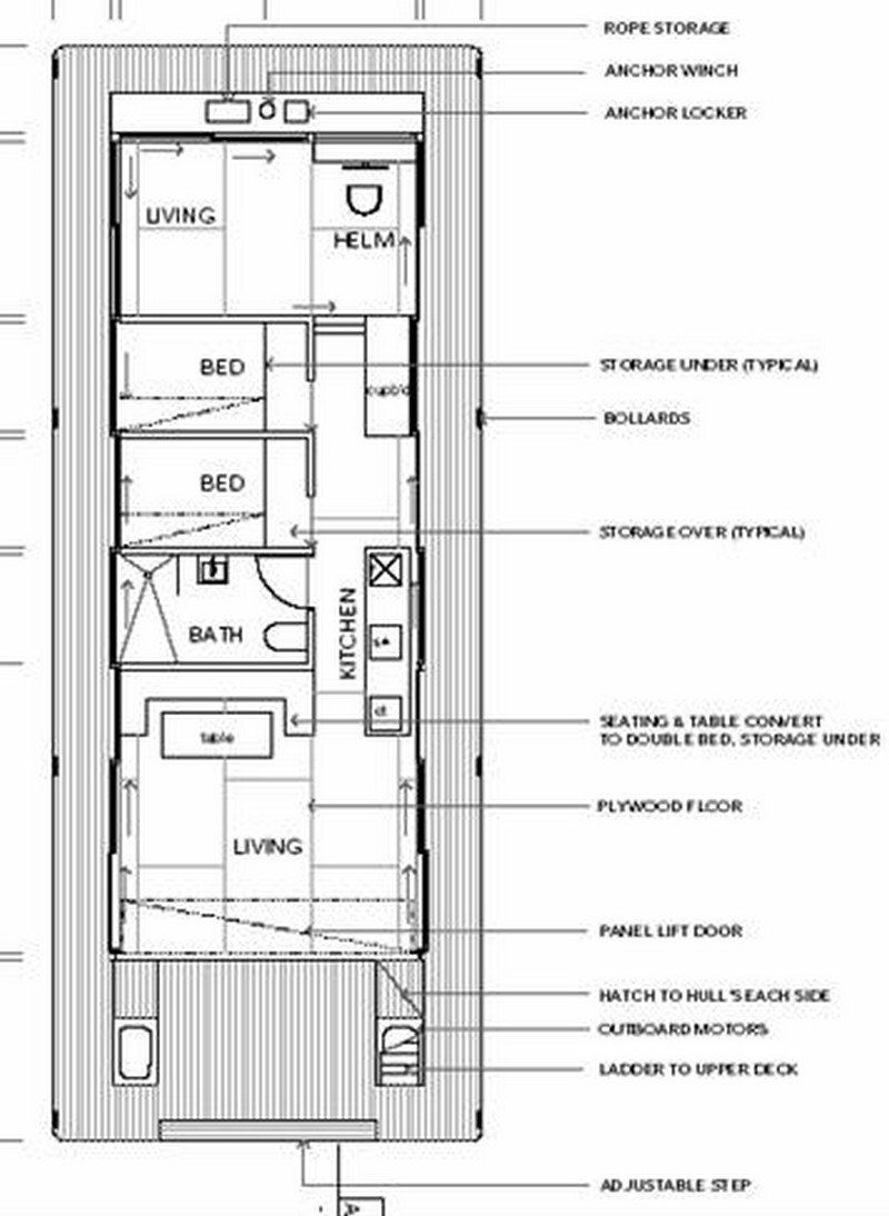 Arkiboat Houseboats The Owner Builder Network House Boat Boat Building How To Plan