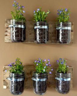 diy hanging wall planters from mason jars mason jar on indoor herb garden diy wall mason jars id=16535