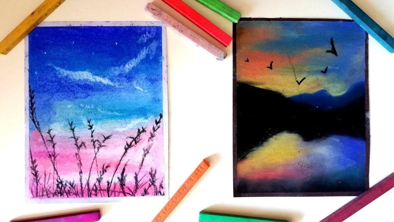 Toz Pastel Manzara Calismalari 2020 Tuval Sanati Tablolar Cizim Egitimleri