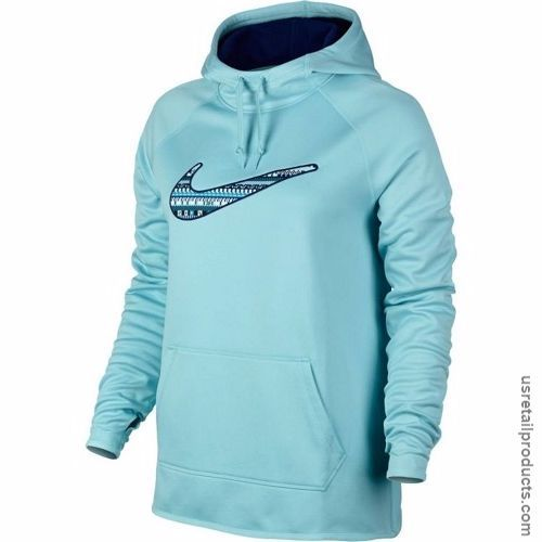 857bd5739d8c Nike Womens All Time 8 Bit Pullover Hoodie Sweatshirt (X-Small) Sea Foam  Blue Hoody