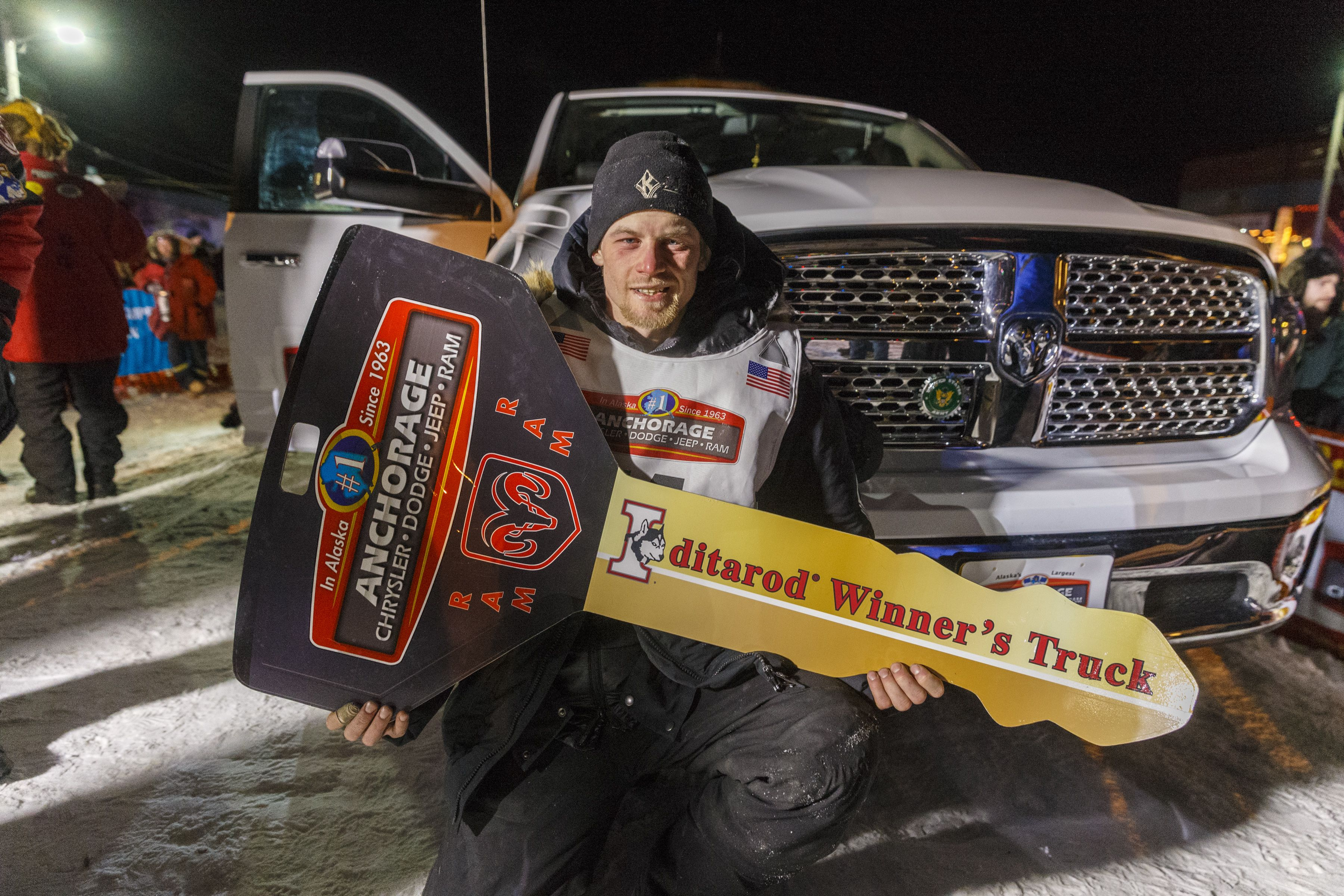 Congratulations To Dallas Seavey The 2014 Iditarod Winner And Recipient Of The Anchorage Chrysler Dodge Official T Iditarod Chrysler Dodge Jeep Monster Trucks