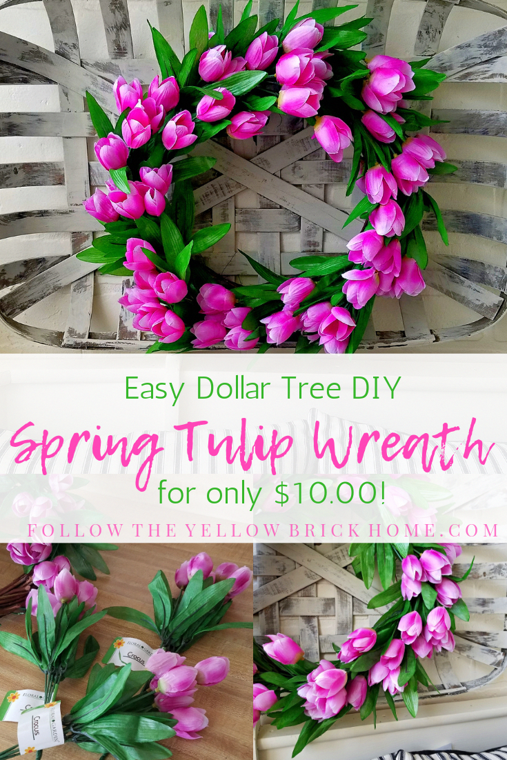 Photo of Easy Dollar Tree DIY Spring Tulip Wreath for Only $10.00! – Follow The Yellow Brick Home