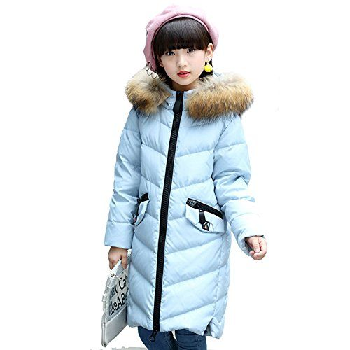 21c6a022d59d AMUR LEOPARD Baby Girls Bubble Jacket Winter Kids Hooded Thicken ...