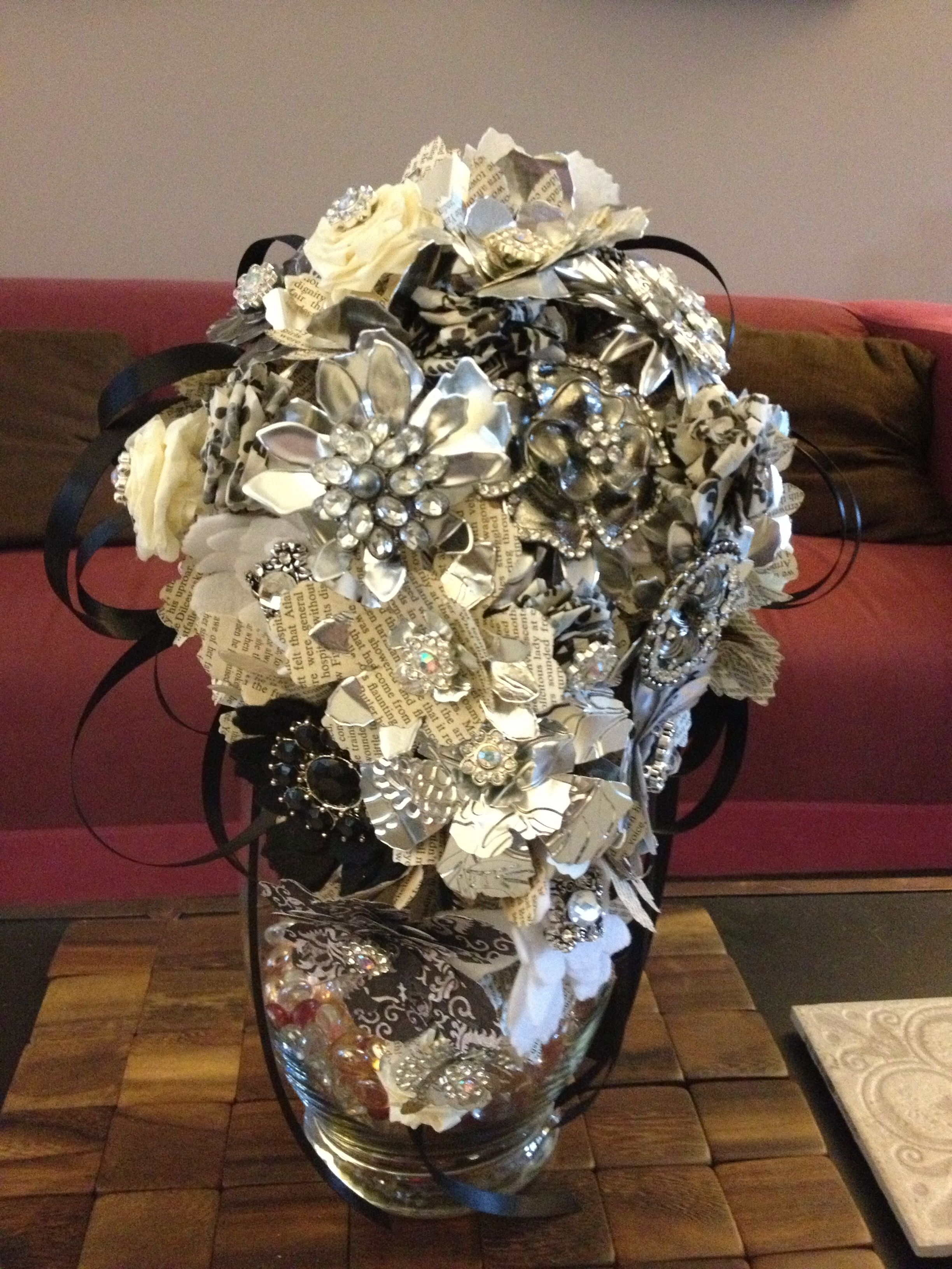 Like the idea of using book pages in wedding centerpieces but it
