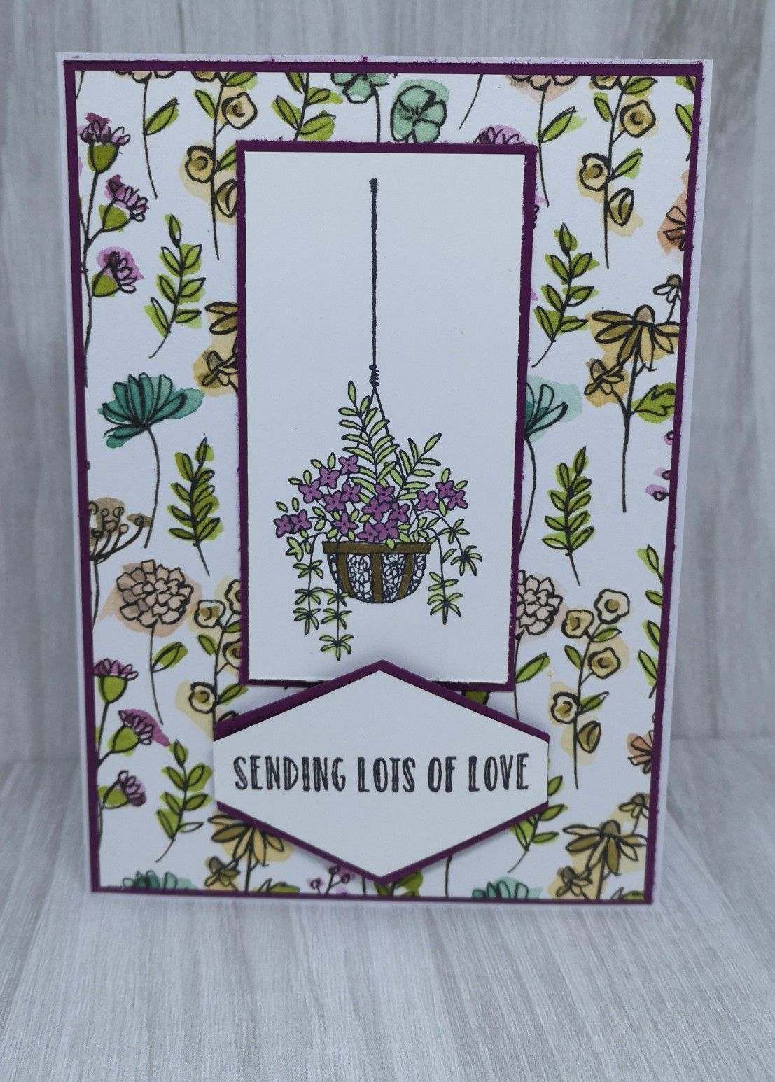 - with Stampin'Up For this tutorial I'm using Share What You Love DSP ans cardstock together with the Hanging Gardens stamp set by Stampin' Up. Ideal for beginnersFor this tutorial I'm using Share What You Love DSP ans cardstock together with the Hanging Gardens stamp set by Stampin' Up. Ideal for beginnersmaking - with Stampin...