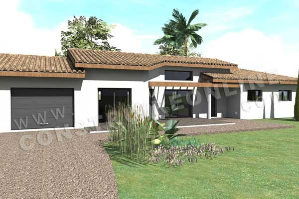 Plan De Maison Mediterraneenne Oracle Terrasse Sud  Maison