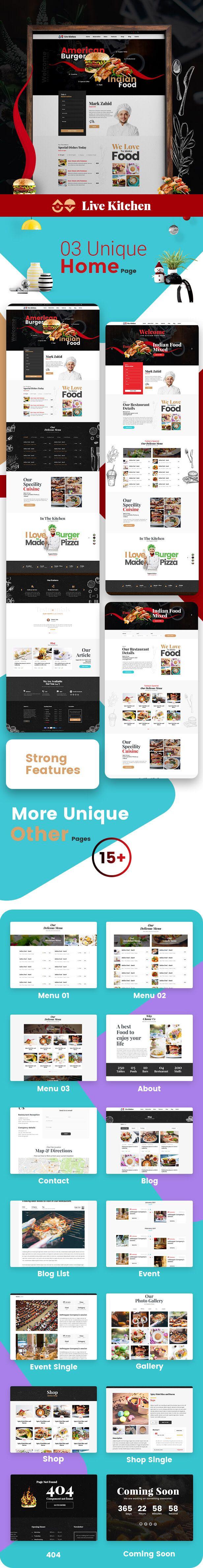 Livekitchen restaurant cafe wordpress theme web design