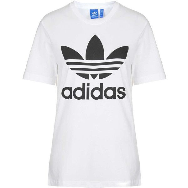 Trefoil Tee By Adidas found on Polyvore featuring tops t shirts