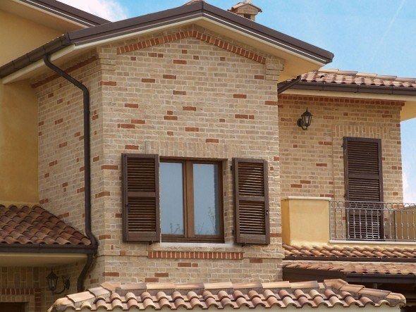 Fachadas de casa com tijolinhos 010 casas de sonho for Ceramica para fachadas exteriores