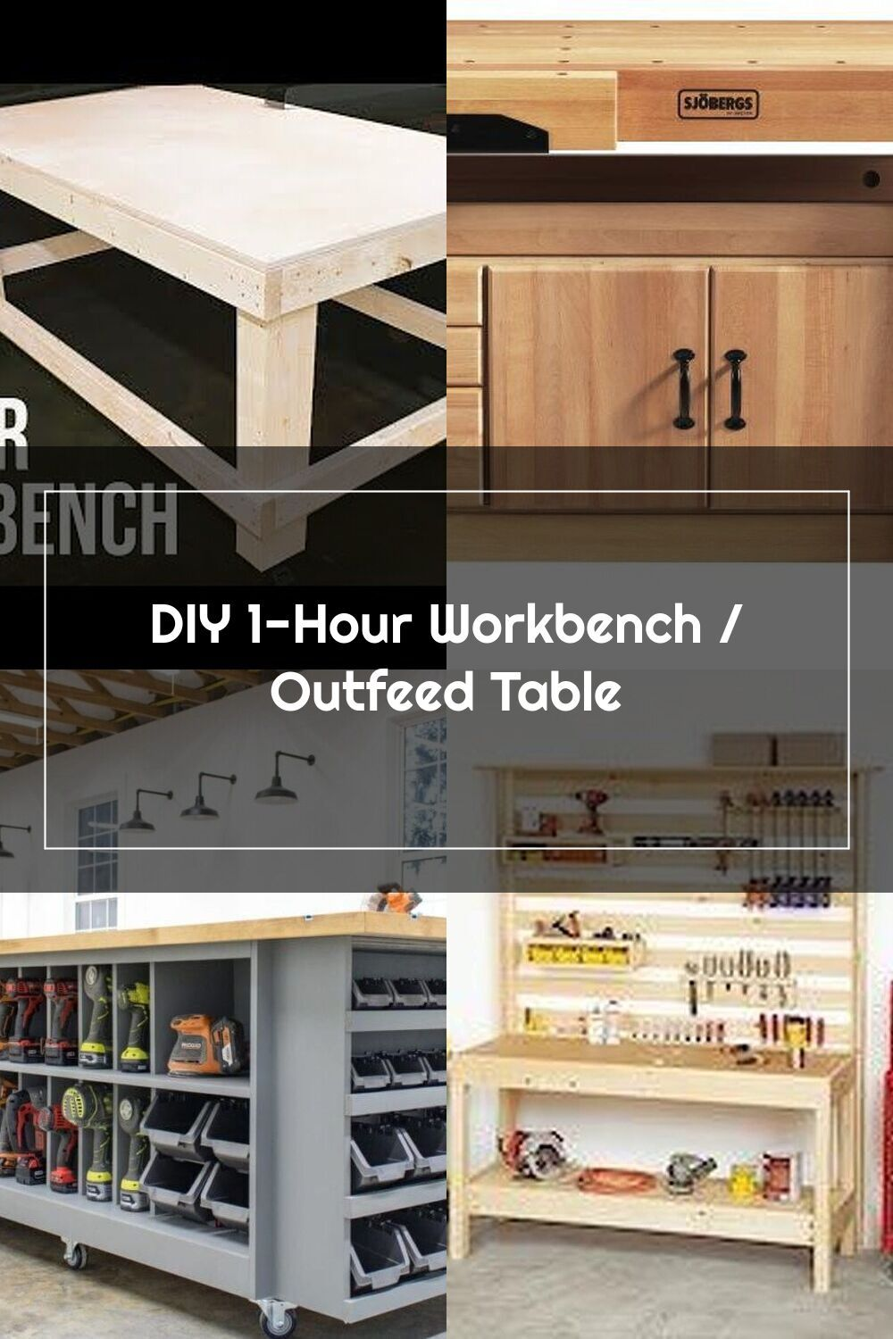 Diy 1 Hour Workbench Outfeed Table This Workbench Is Made From All 2x4 Dimensional Lumber And Less Than One Full Sheet Of In 2020 Dimensional Lumber Workbench Table