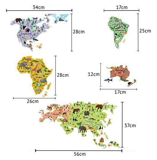 Wandsticker weltkarte kinder geographie tierwelt spielerisch wandsticker weltkarte kinder geographie tierwelt spielerisch erlernen mit der wandtattoo wandsticker weltkarte von tokopi pdagogisch wertvoll thecheapjerseys Gallery
