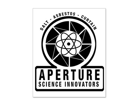 "8/"" Aperture Science Laboratories Sticker Decal Portal vinyl"