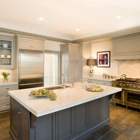 Georgian Revival Traditional Kitchen Boston By Cw Design Llc Taupe Kitchen Cabinets Kitchen Cabinet Color Schemes White Kitchen Paint Colors