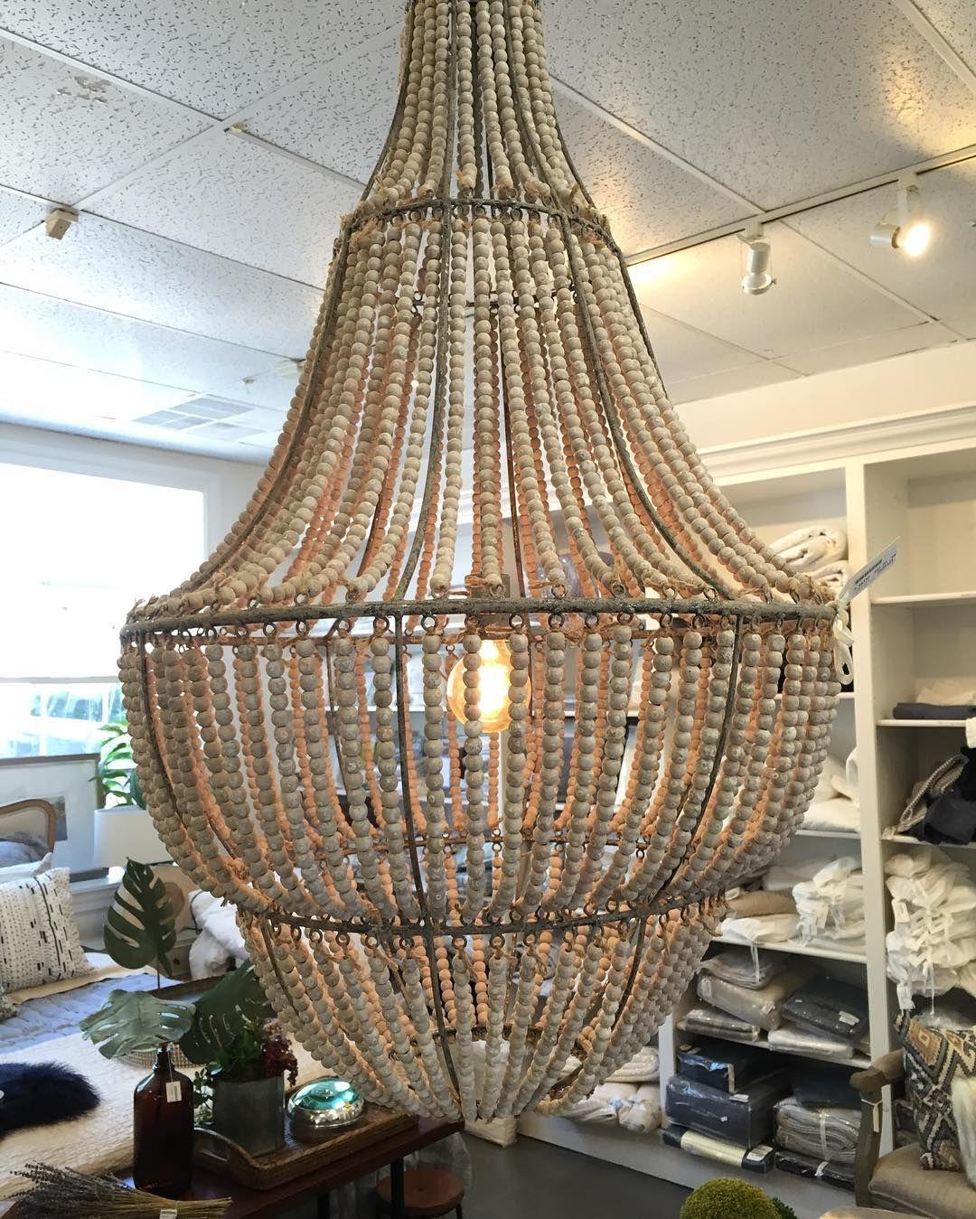 Beaded chandelier - huge statement lighting makes for a great dining or living focal point. #lighting #lightingdesign #interiordesign #saltlakecity ... & Beaded chandelier - huge statement lighting makes for a great dining ...