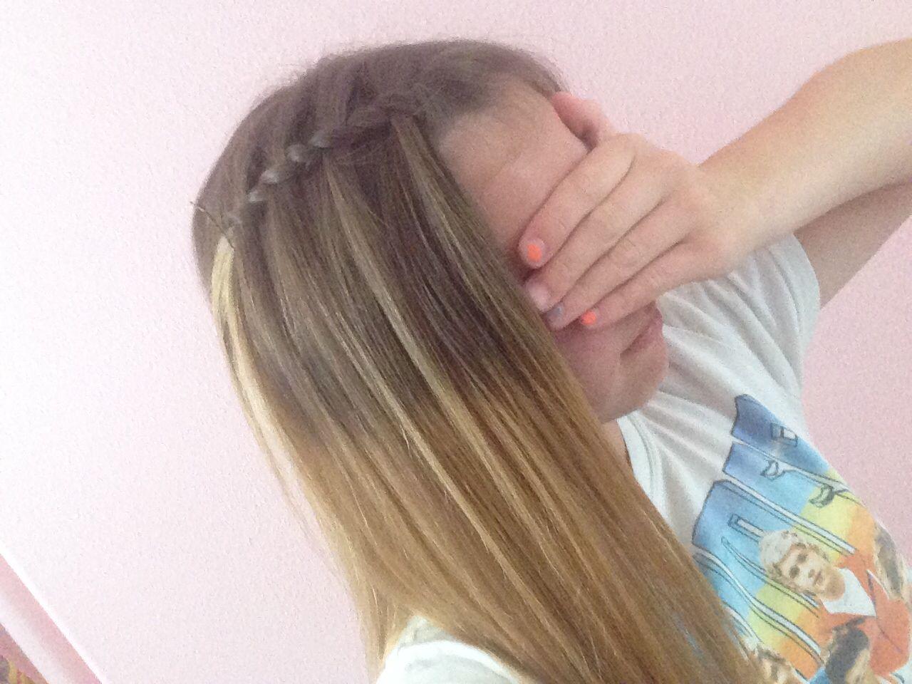 Waterfall braid medium hair ombré hair hair pinterest