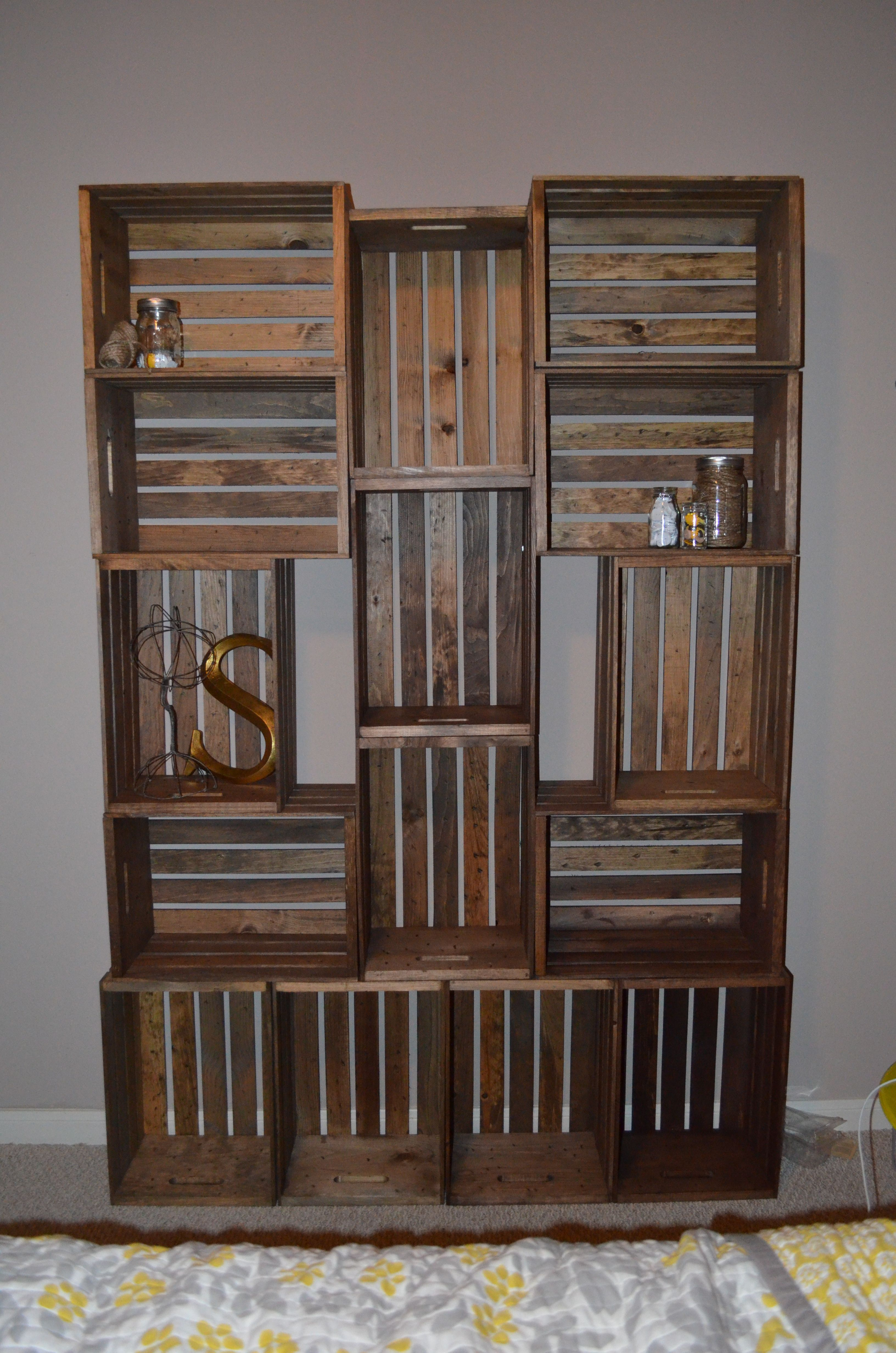 Bookcase i made from an idea i found on pinterest with