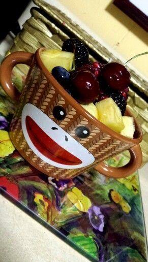Cherry Pineapple Blueberry Amp Blackberry Monkey Fruit