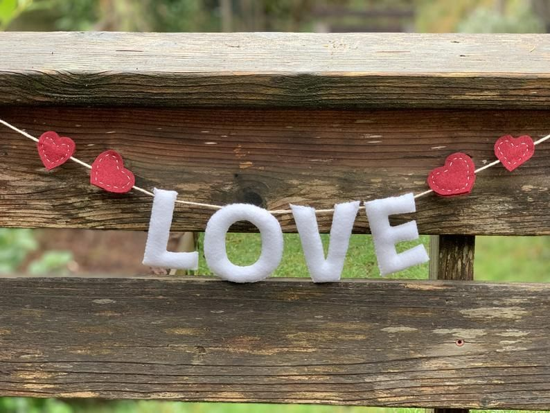 darling felt banner for valentines day #valentines day decor mantle letters Love Banner for Mantle, Valentine's Day Garland, Felt Love Sign, Valentine Decoration #valentines day decor mantle letters
