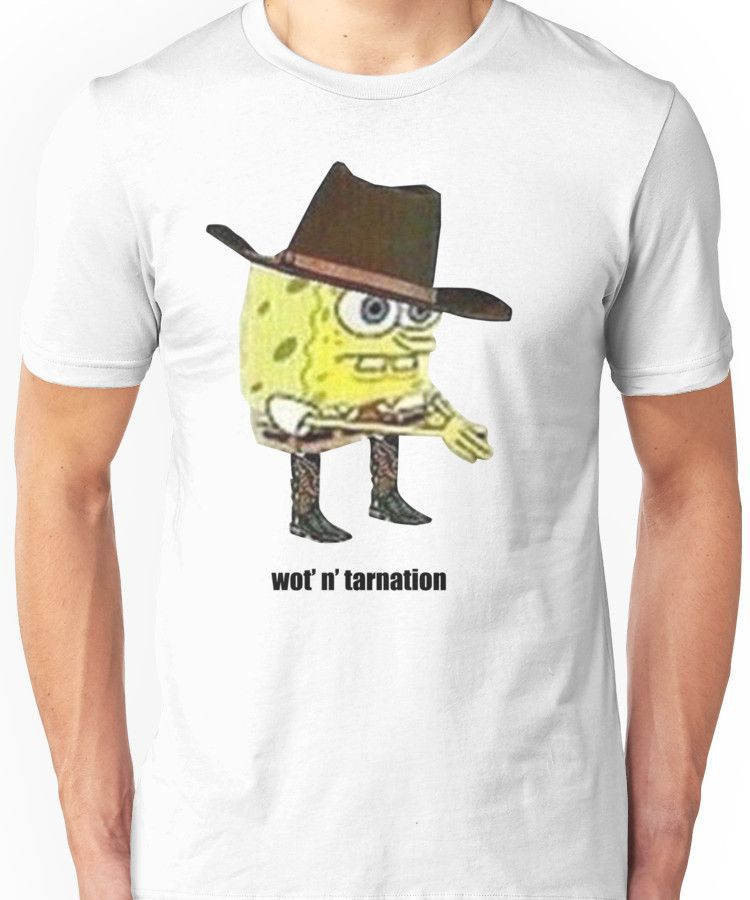 c12e59130 What in tarnation spongebob meme | Slim Fit T-Shirt | Products ...