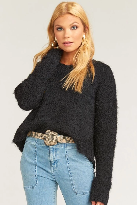Avie Soft Knit Off Shoulder Crop Sweater | Cropped sweater