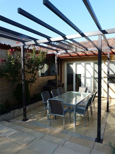 Gardens Of Steel Contemporary Pergolas Custom Designed For