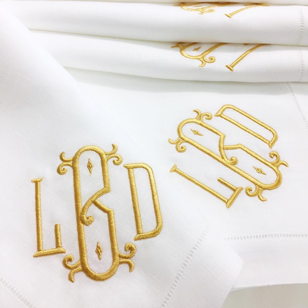 Exquisite Embroidered Monogrammed Table Linens Are The Perfect And Most  Appreciated Gift! Order Now For