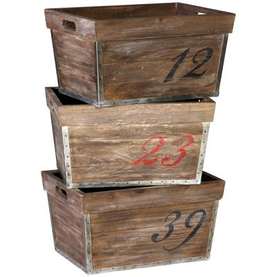 Gabby Decor Barlow Numbered Crates  #laylagrayce #gabbyfurnishings