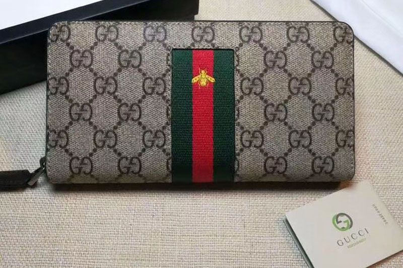 c8dc259ee582c Replica Gucci 408831 Web GG Supreme zip around wallet … Continue reading →