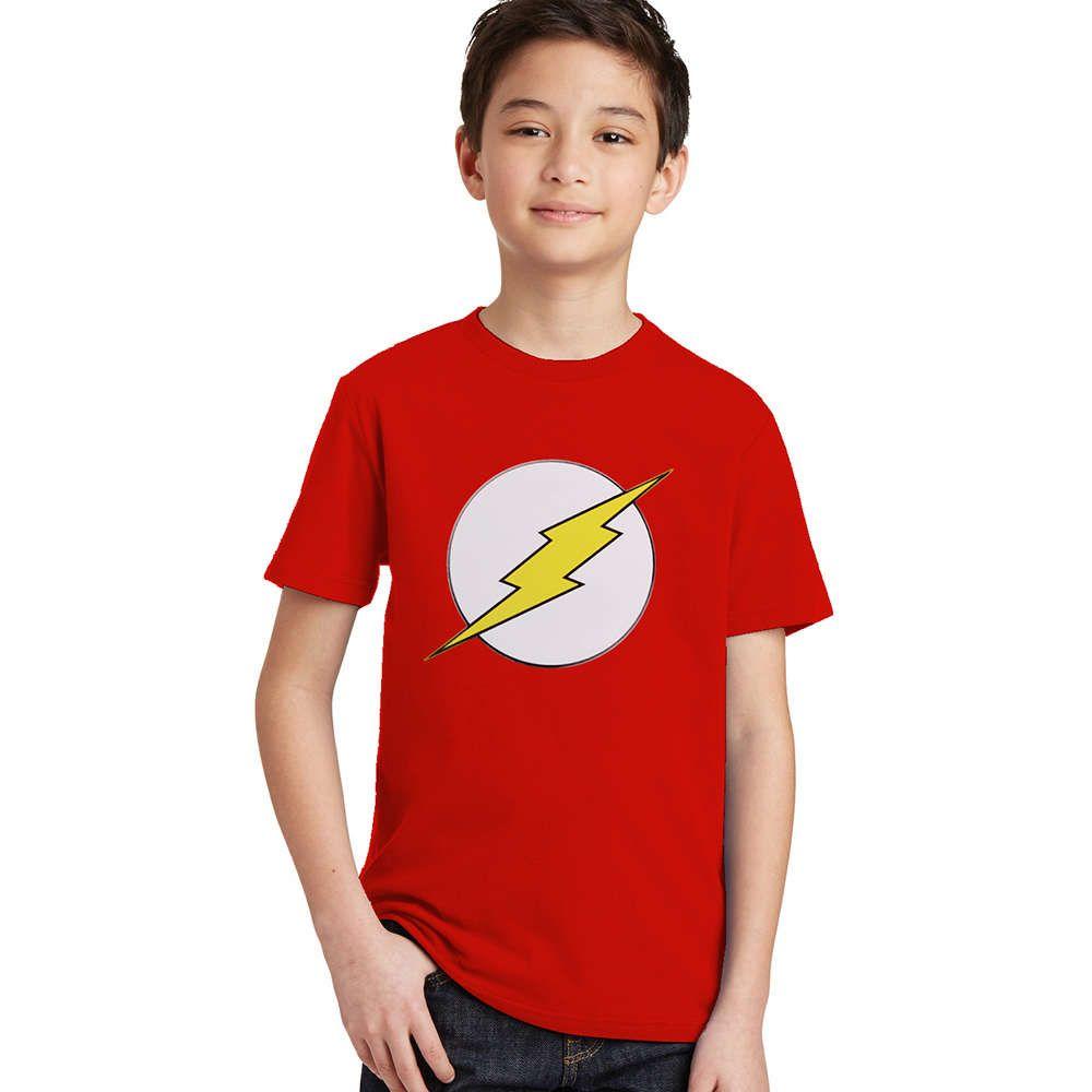 The Flash Kids T Shirts Children Boys Girls Flash Man Logo T Shirt
