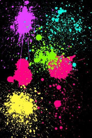Paint Splatter Neon Painting Paint Splash Painted Backdrops