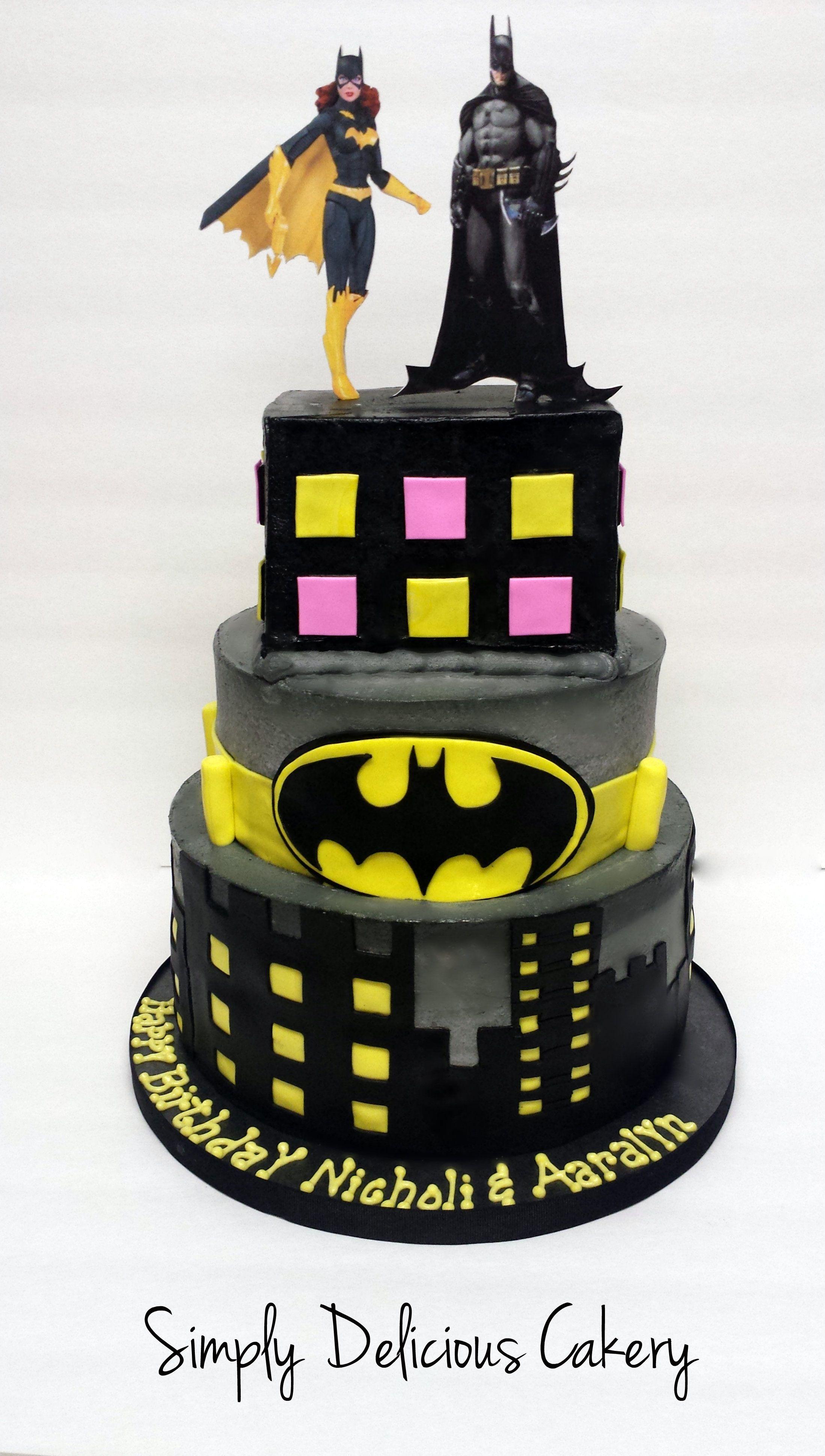 Batman Batgirl Birthday Buttercream Edibleimages Simply