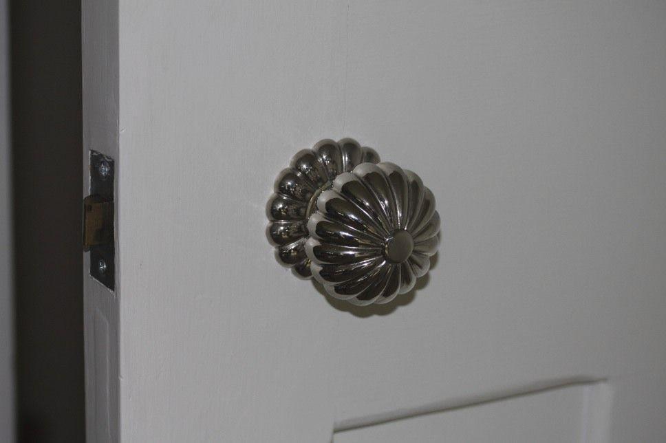 Nickel door knobs sea urchin looking good on a period door. http ...