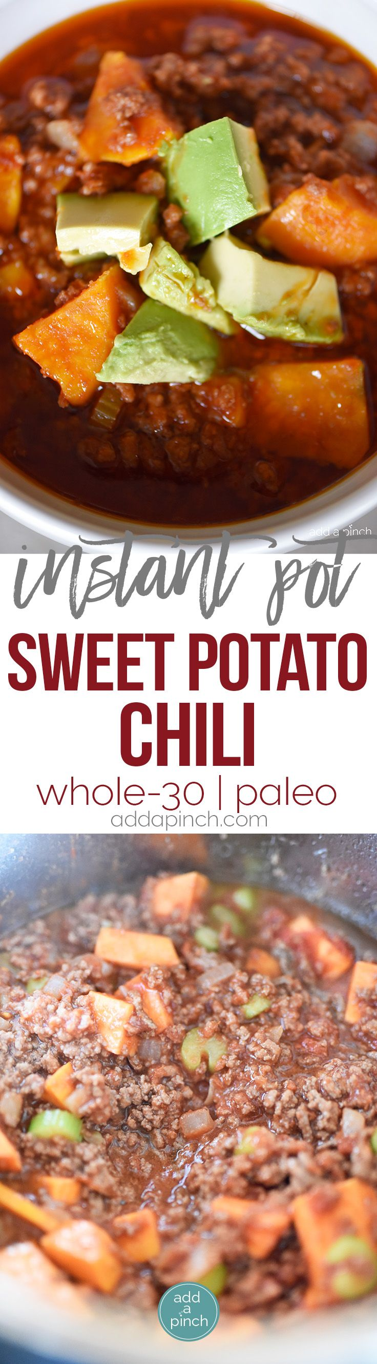 Instant Pot Sweet Potato Chili Recipe This Instant Pot Sweet Potato Chili Makes A Hearty Deli Instant Pot Paleo Sweet Potato Chili Sweet Potato Chili Recipe