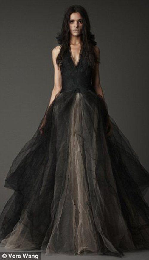 Coleção Vera Wang de Vestidos de Noiva Pretos | Дара | Pinterest ...