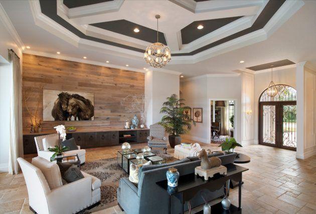 19 edle Innenarchitektur mit Holzwand   Dekorationen gram   Living room designs, Living room ...