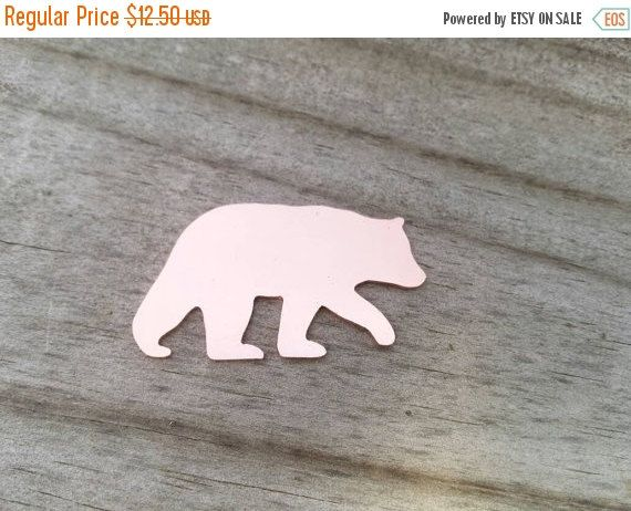 ON SALE Copper Mama Bear Blanks, Mom bear blanks, Bear stamping blank, copper bear blank, custom cut stamping blanks, hand stamping Supplies