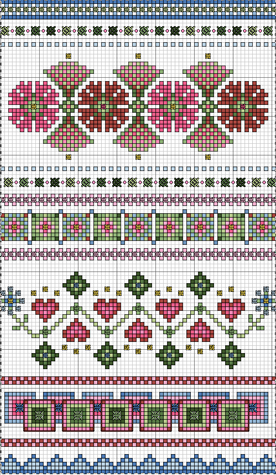 Free Sampler Pattern ~ Always Springtime #prettypatterns
