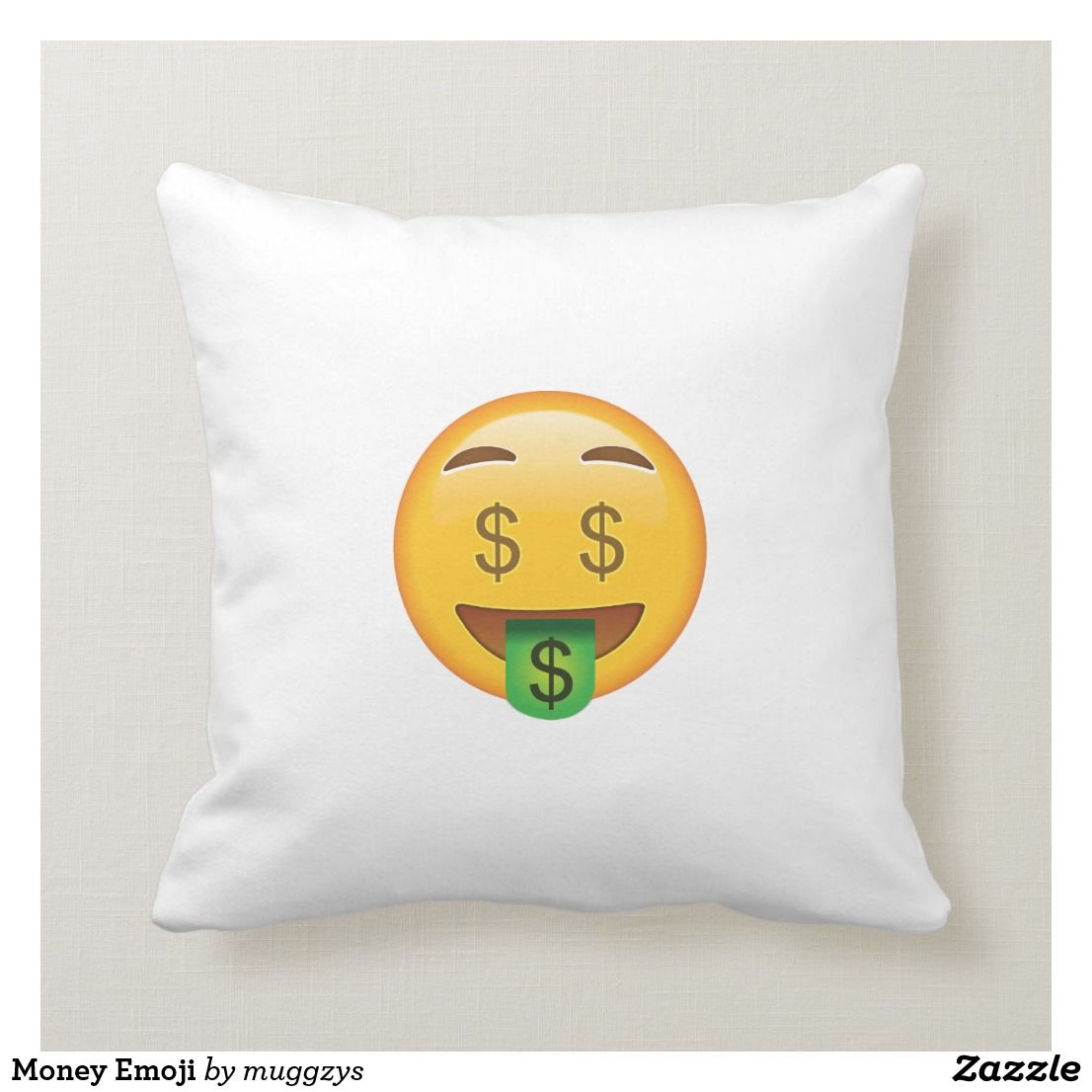 Money Emoji Throw Pillow Pillows Custom Throw Pillow Decorative Throw Pillows