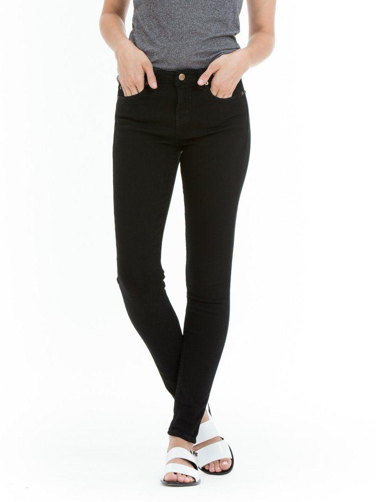 SKU:242010027  High waisted skinny five-pocket stretch jean. A modern…