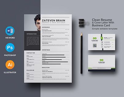 Check out new work on my @Behance portfolio  - resume templates for work