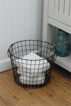 Round Wire Potato Baskets..bathroom